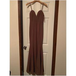 Mauve mermaid dress